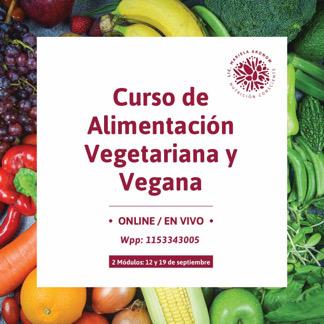 Curso de Alimentación Vegetariana/ Vegana