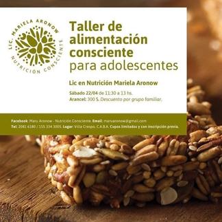 Taller de Alimentación Consciente para Adolescentes